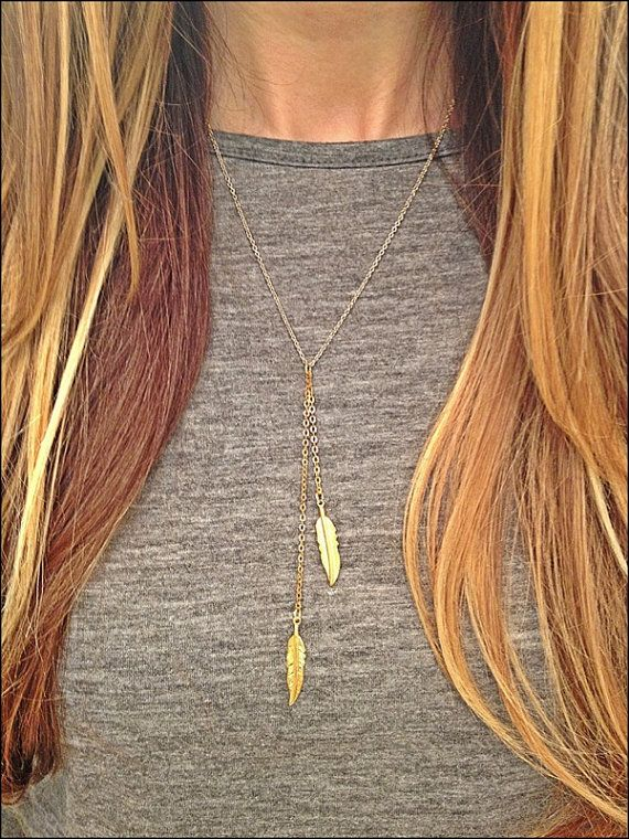 Avianna Gold Feathers Necklace