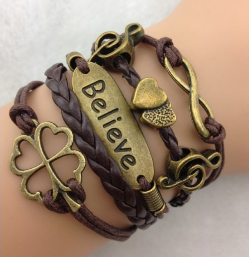 Infinite Love: Believe Charm Bracelet