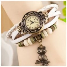 Romira White Charm Bracelet & Watch