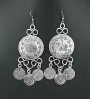Turkish Coin Boho Gypsy Calypso Earrings