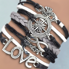 Infinite Love: Journey Charm Bracelet