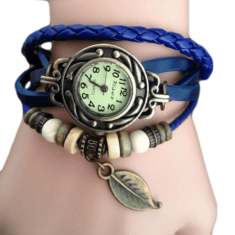 Romira Blue Charm Bracelet & Watch