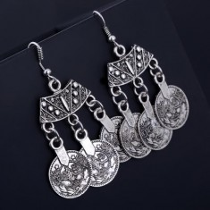 Silver Coin Earrings