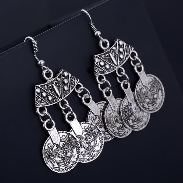 Silver Coin Earrings