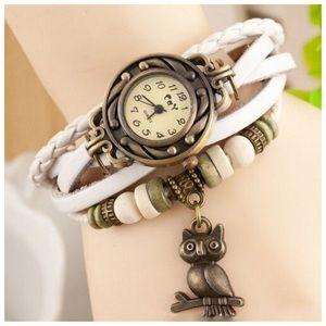 Romira White Charm Bracelet & Watch
