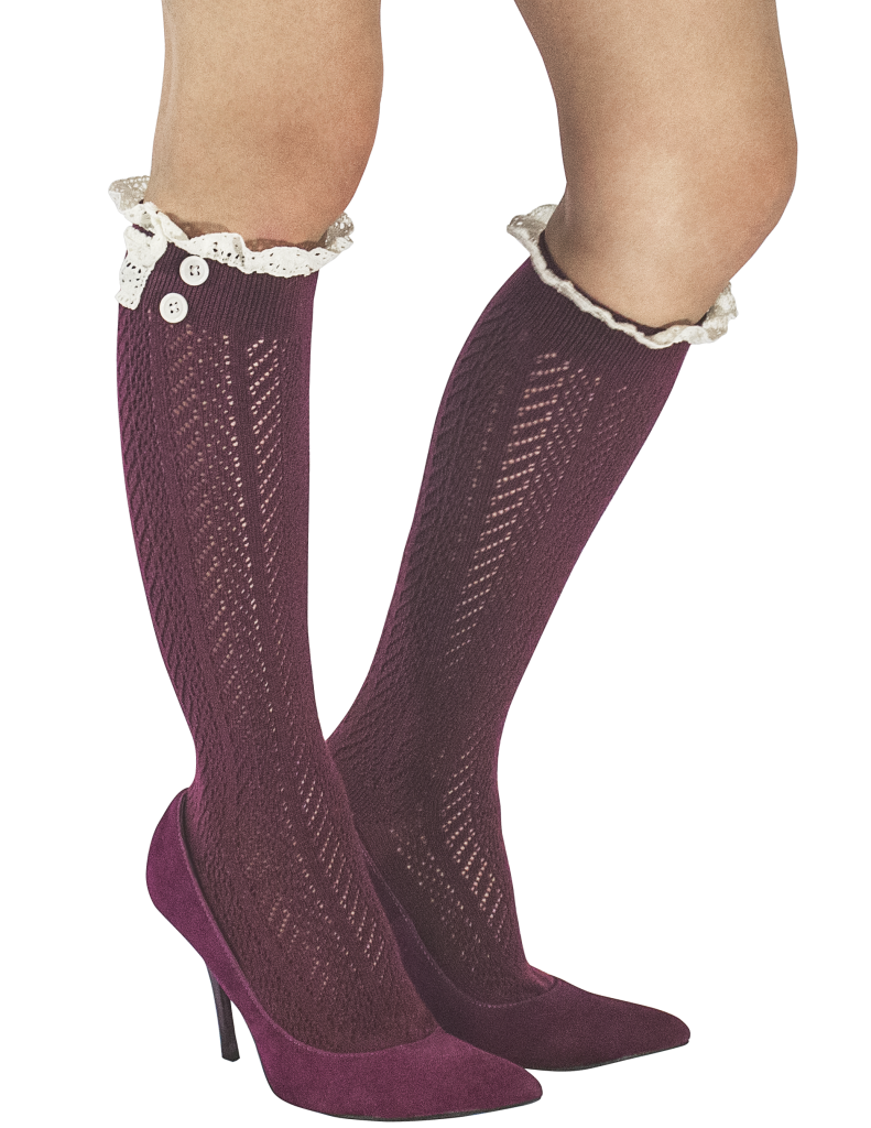 Norah Lacey Boot Socks, Marsala
